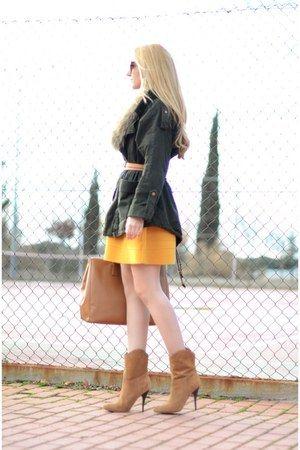 Maje dress - asos coat - Prada purse
