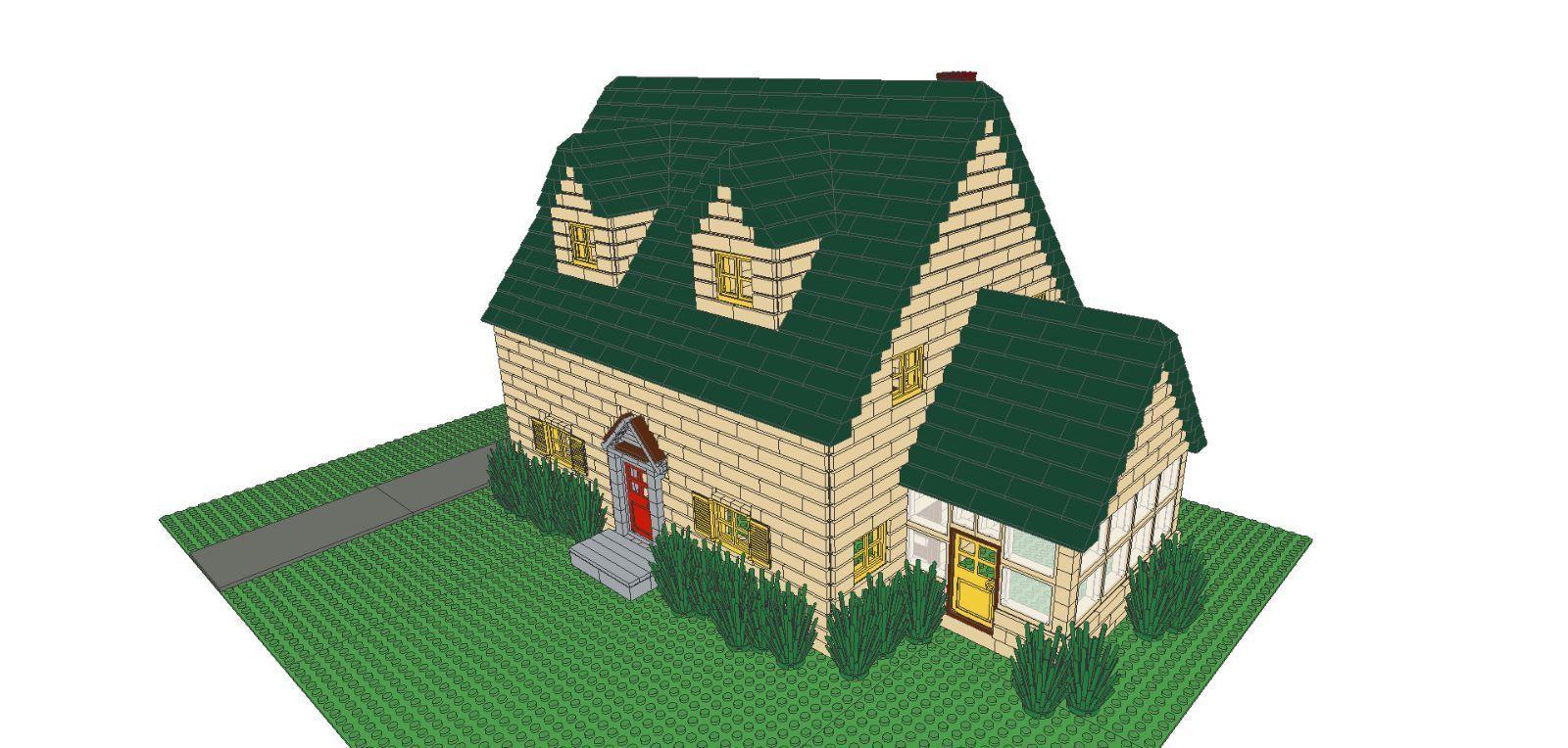 Lego Instructions Family Guy House 2788 Parts City Town Griffin Custom Lego Instructions Cartoon House Lego