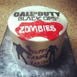 Superb Call Of Duty Zombies Birthday Cake Zombie Birthday Cakes Boy Funny Birthday Cards Online Inifodamsfinfo