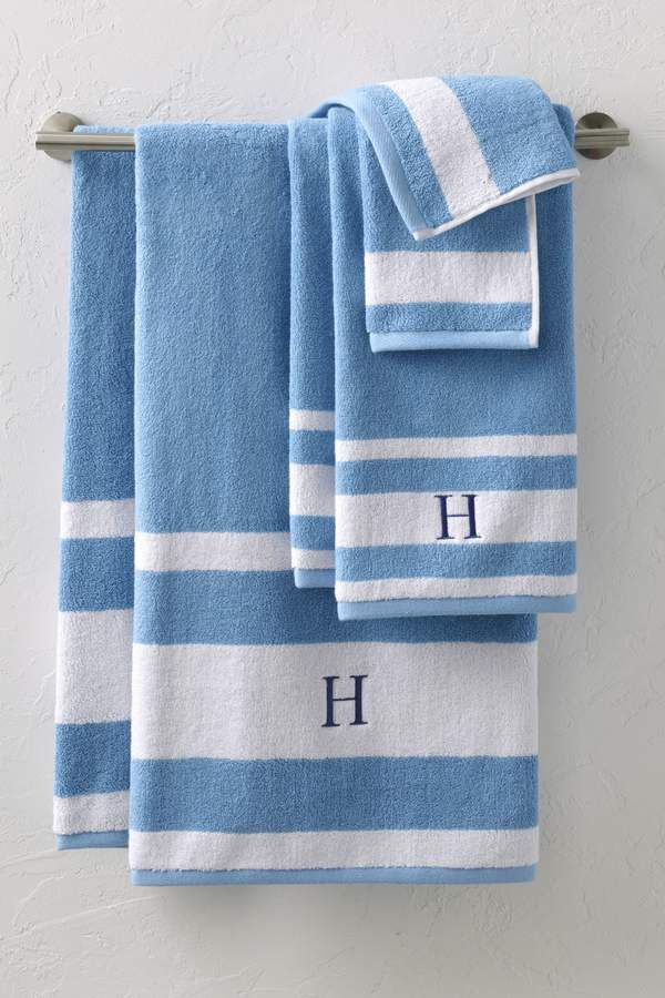 Lands End Supima Stripe Towel Set Smoother Spin Lets Fall