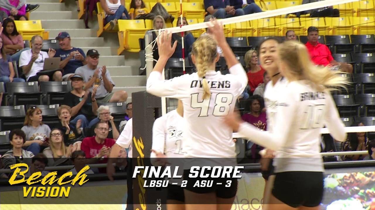 Wvb Lbsu 2 Vs Asu 3 Highlights With Images Volleyball News Asu Highlights