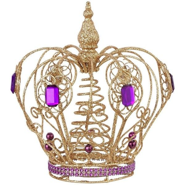 Gold And Purple Crown Tree Topper 12 Liked On Polyvore