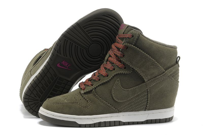 Womens Nike Dunk Sky High Brown White Shoes For Wholesale