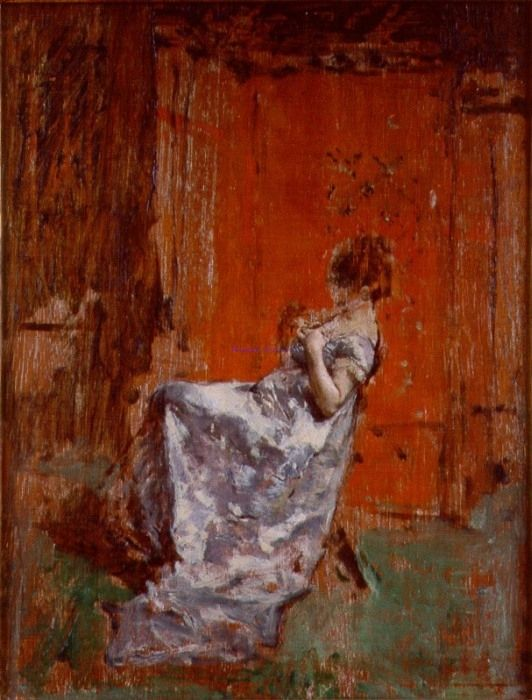 Mariano Fortuny y Marsal Seated female figure | |