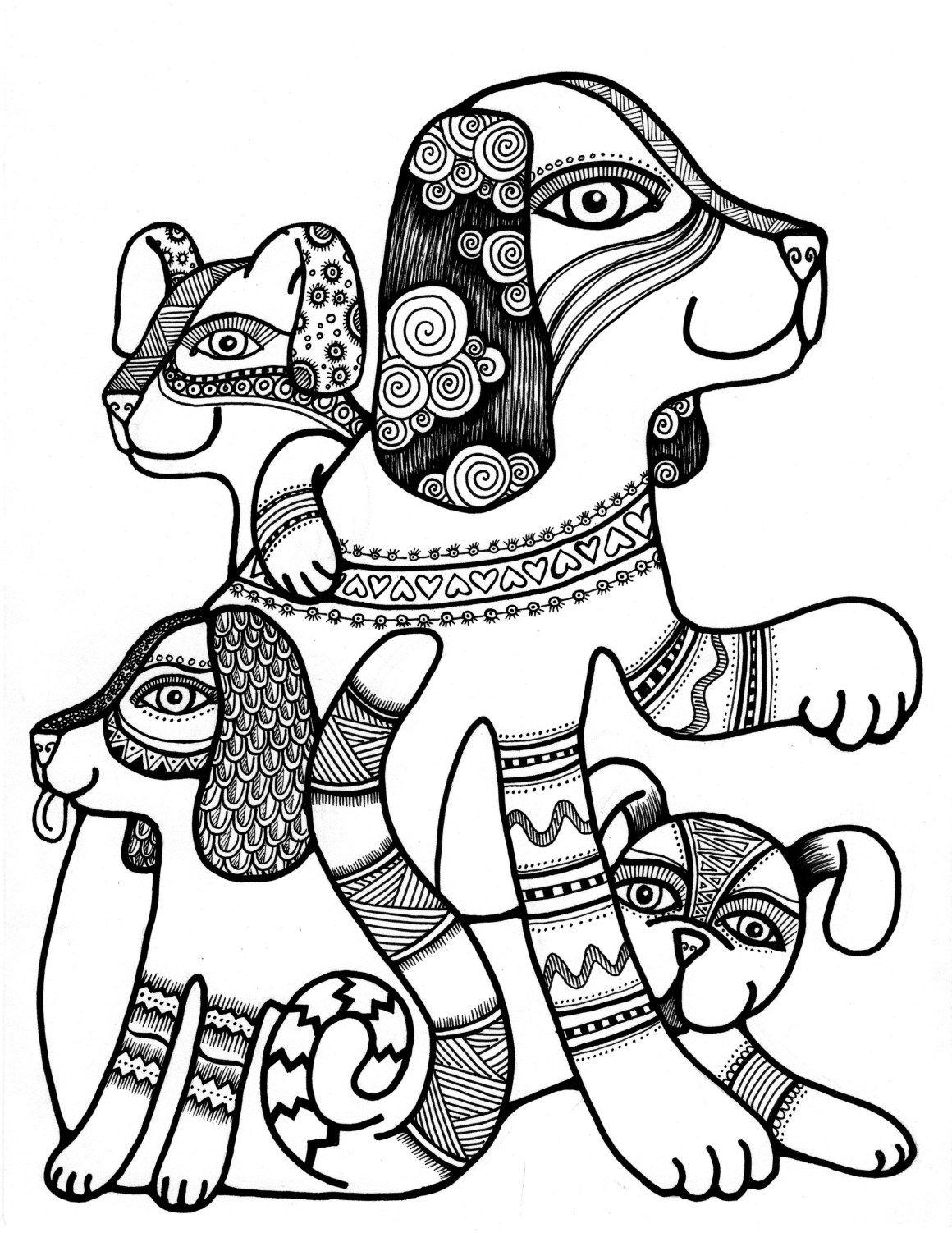 Pin By Love Beautiful On Dogs Mandala Coloring Pages Dog Coloring Page Coloring Pages [ 1502 x 1160 Pixel ]