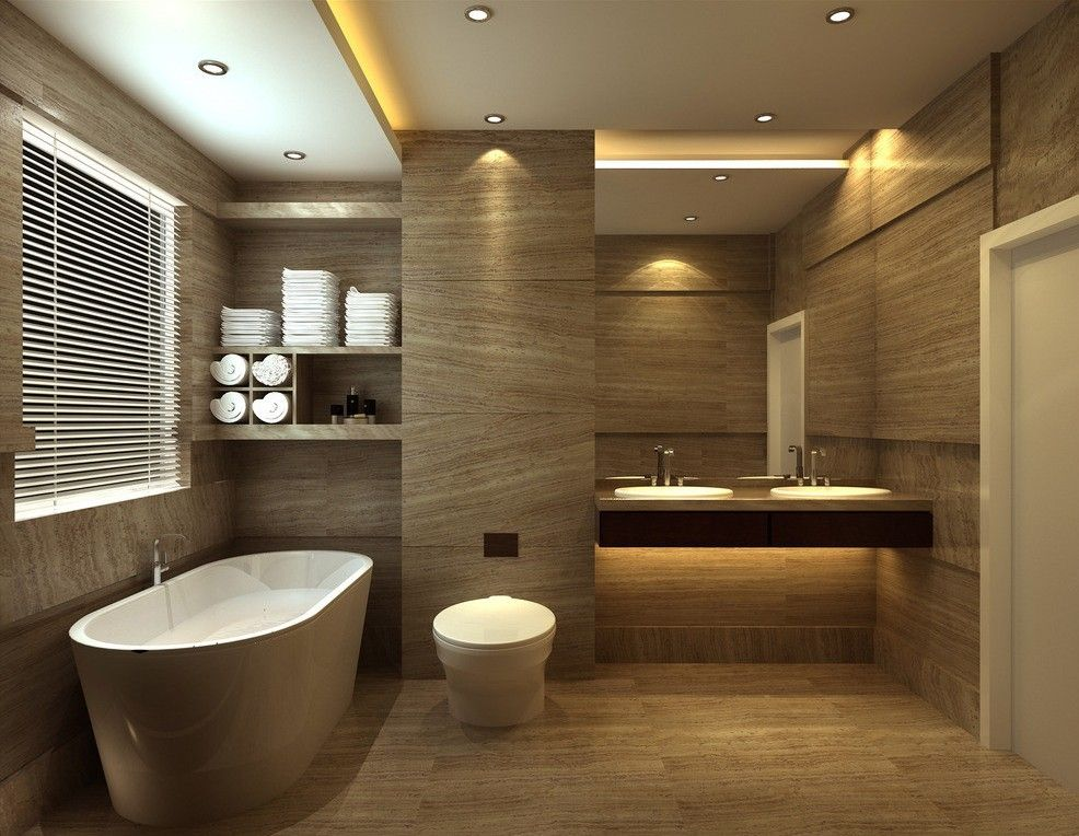Brilliant ideas about bathroom design bathroom vanities for Photos of contemporary bathrooms