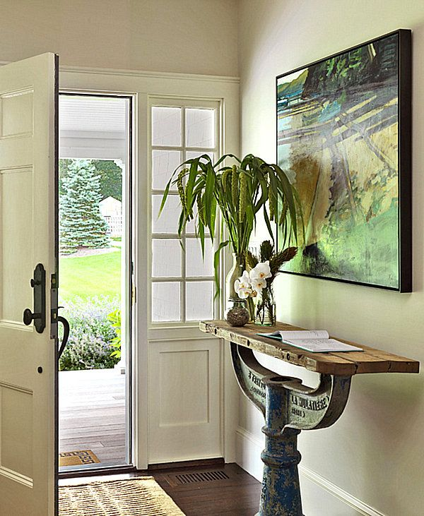 Unique narrow entryway table | Narrow entryway table, Narrow ...