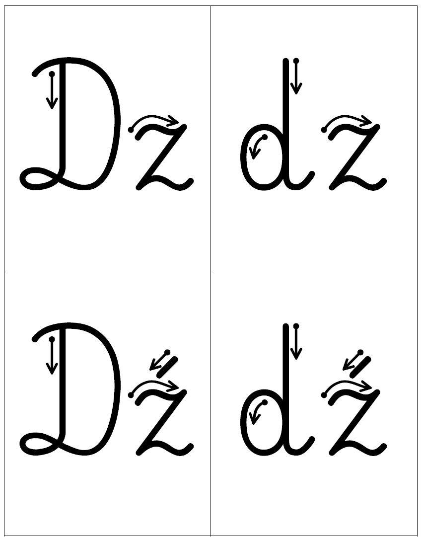 Kierunek Kreslenia Liter Dwuznaki Rz Rz Sz Sz Cz Cz Ch Ch Dz Dz Dz Dz Dz Dz Math Math Equations