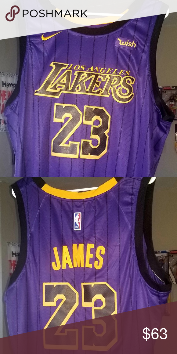 designer fashion 79133 4de72 Authentic Lakers Lebron James City Edition Jersey Authentic ...