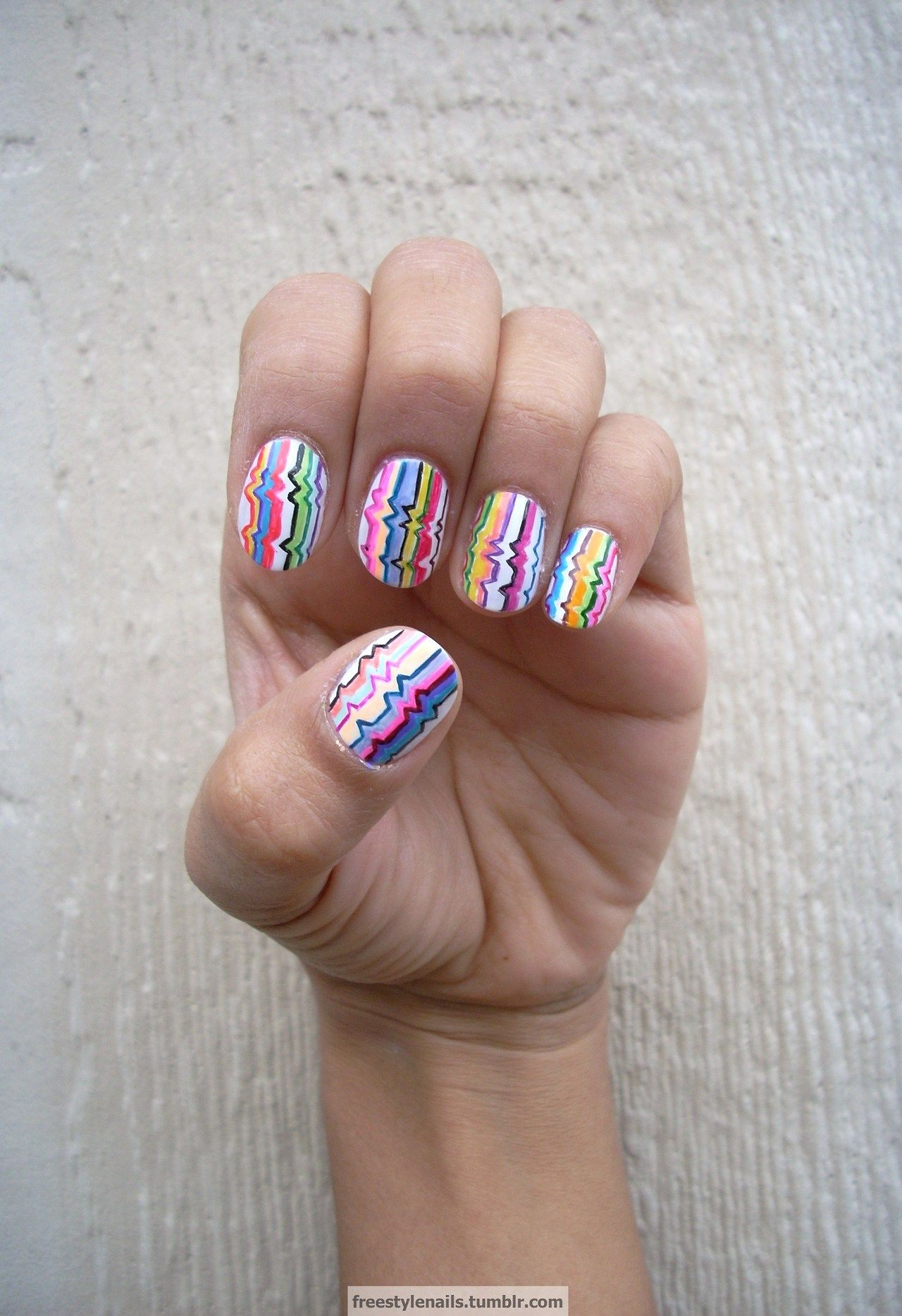 Freestyle nails for the masses #nail #nails #nailart | Crazy nail ...