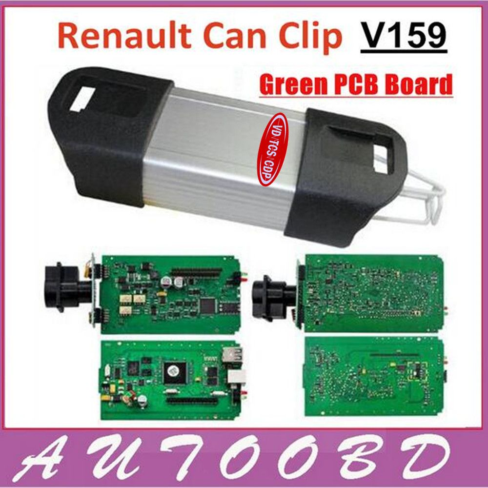 Green Pcb Board Chip V159 Renault Can Clip Auto Diagnostic Interface Circuit Repair Tools For Scanner Tool Support