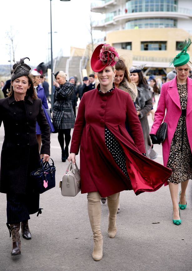 mirror: Ladies Day, Cheltenham Races, March 14, 2018-Zara Tindall