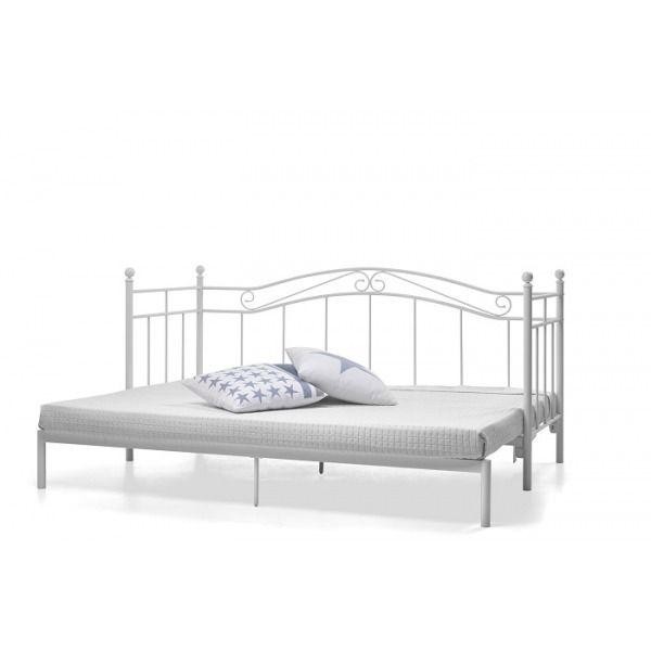 łóżko Princess Białe Rozkładane Metalowe 80 160 X 200