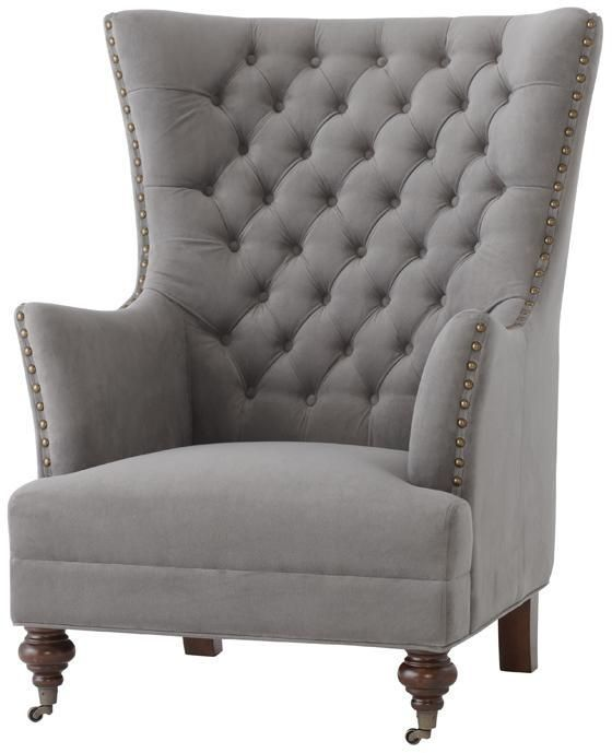 Delightful Gray Tufted Wingback Chair   Google Search