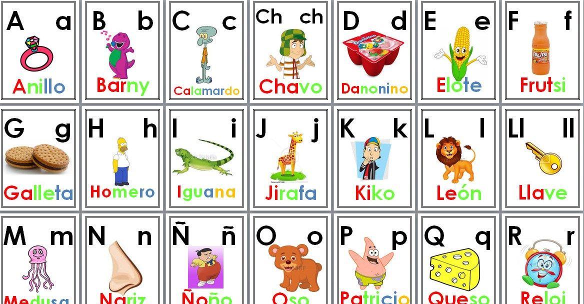 Alfabeto Completo Con Vocales Para Primer Y Segundo Grado Muy