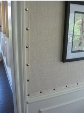 Pin By Beth Kauffman On Wallpaper Burlap Wall Burlap Wallpaper Upholstered Walls