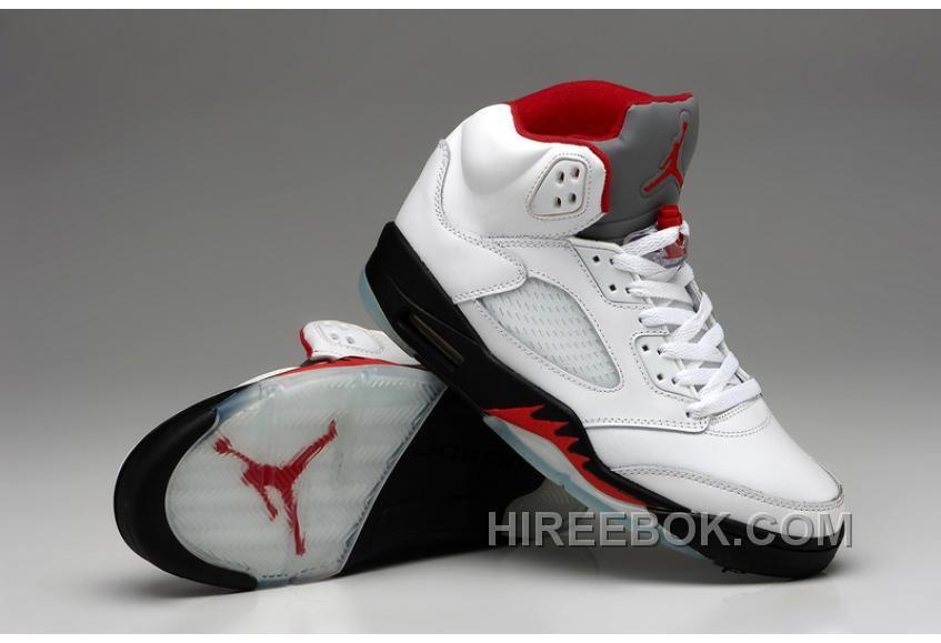 Air Jordan 5 White Black Fire Red Shoes Livraison Gratuite, Price: $76.00 -  Reebok Shoes,Reebok Classic,Reebok Mens Shoes
