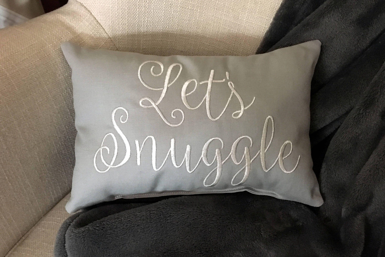 Pillow Throw Pillow Decorative Pillow Let S Snuggle Pillow Words Pillow Sayings Pillow Quote Pillow Lumbar Word Pillow Decorative Pillows Throw Pillows