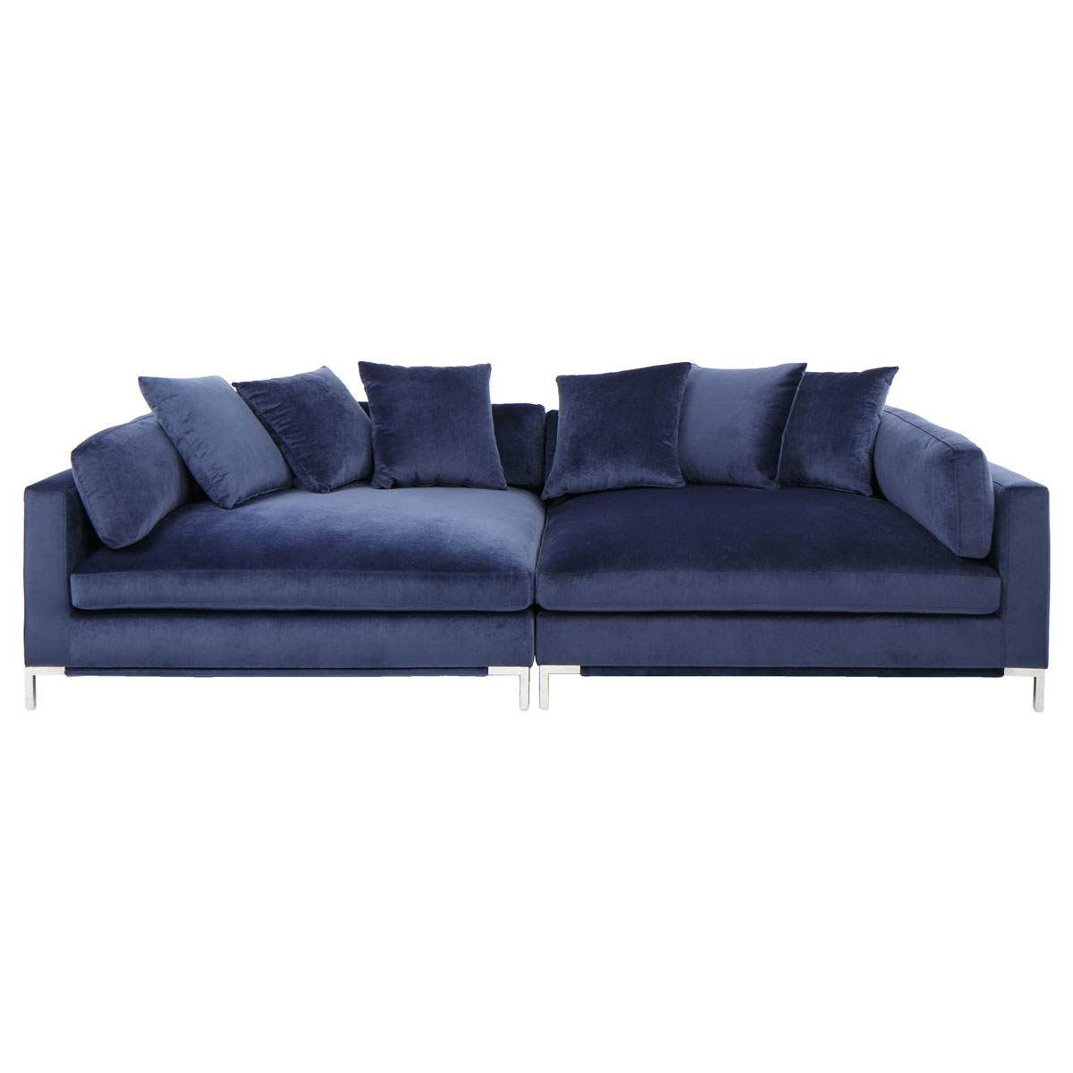 Belair Sofa In Blue Jerome S Furniture Affordable Living Room