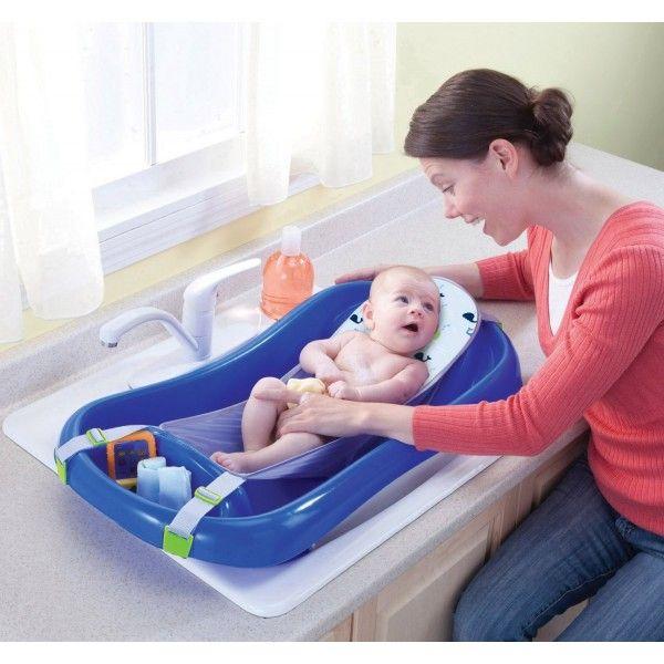 Bañera The First Years Para Recién Nacido Con Hamaca Tinas De Baño De Bebé Asiento De Baño Para Bebés Baby Shower Económico