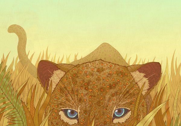 Leopard Art Print by miguel co