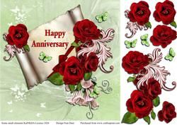 Red Anniversary Roses