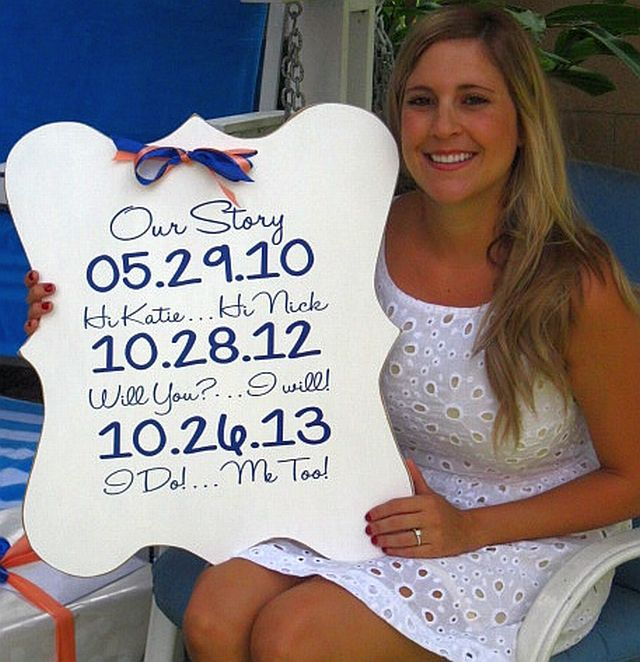 Sunset Coast: DIY Wedding Date Plaques