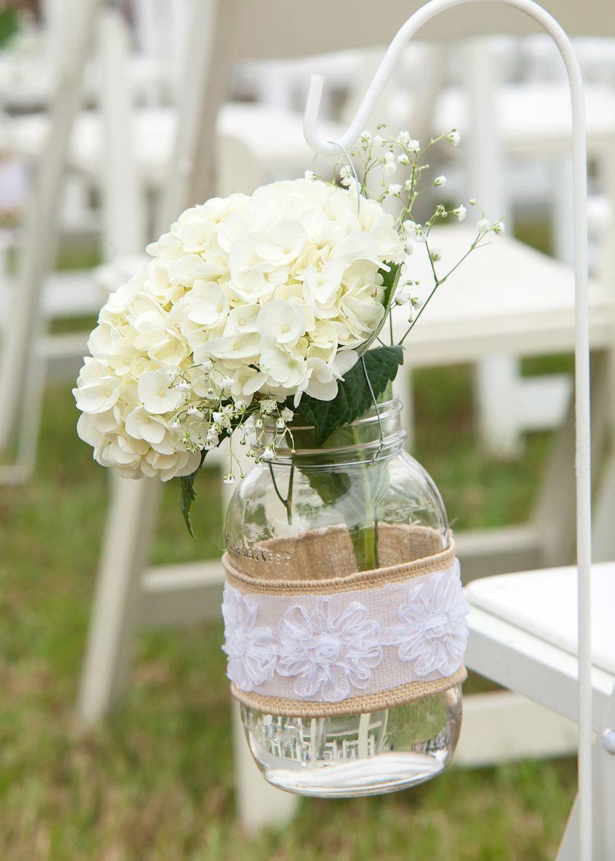 hanging mason jars down the aisle   5.18.13   Wedding ...