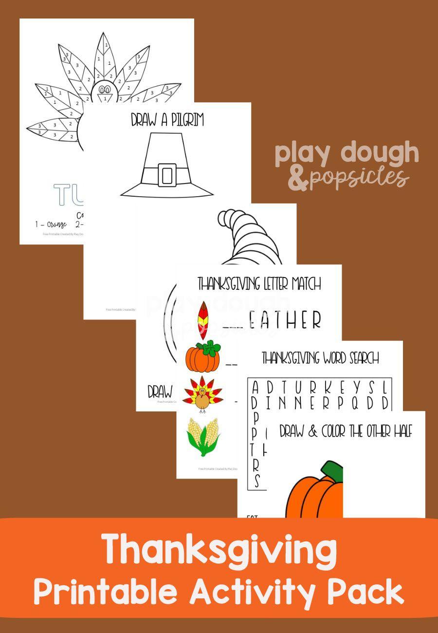 Super fun u entertaining thanksgiving activity pack free printable