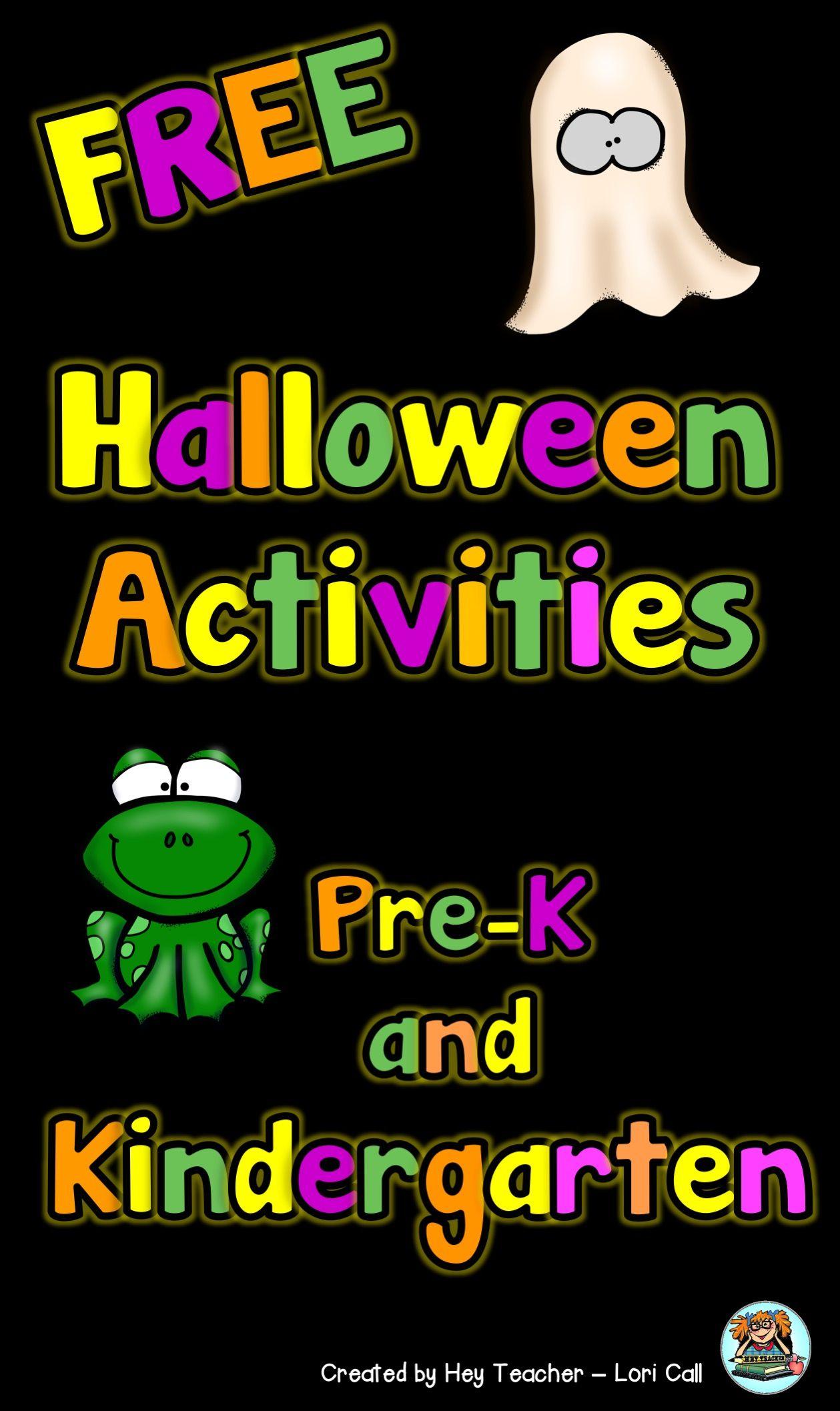 Free Halloween Printable For Pre K And Kindergarten Kids