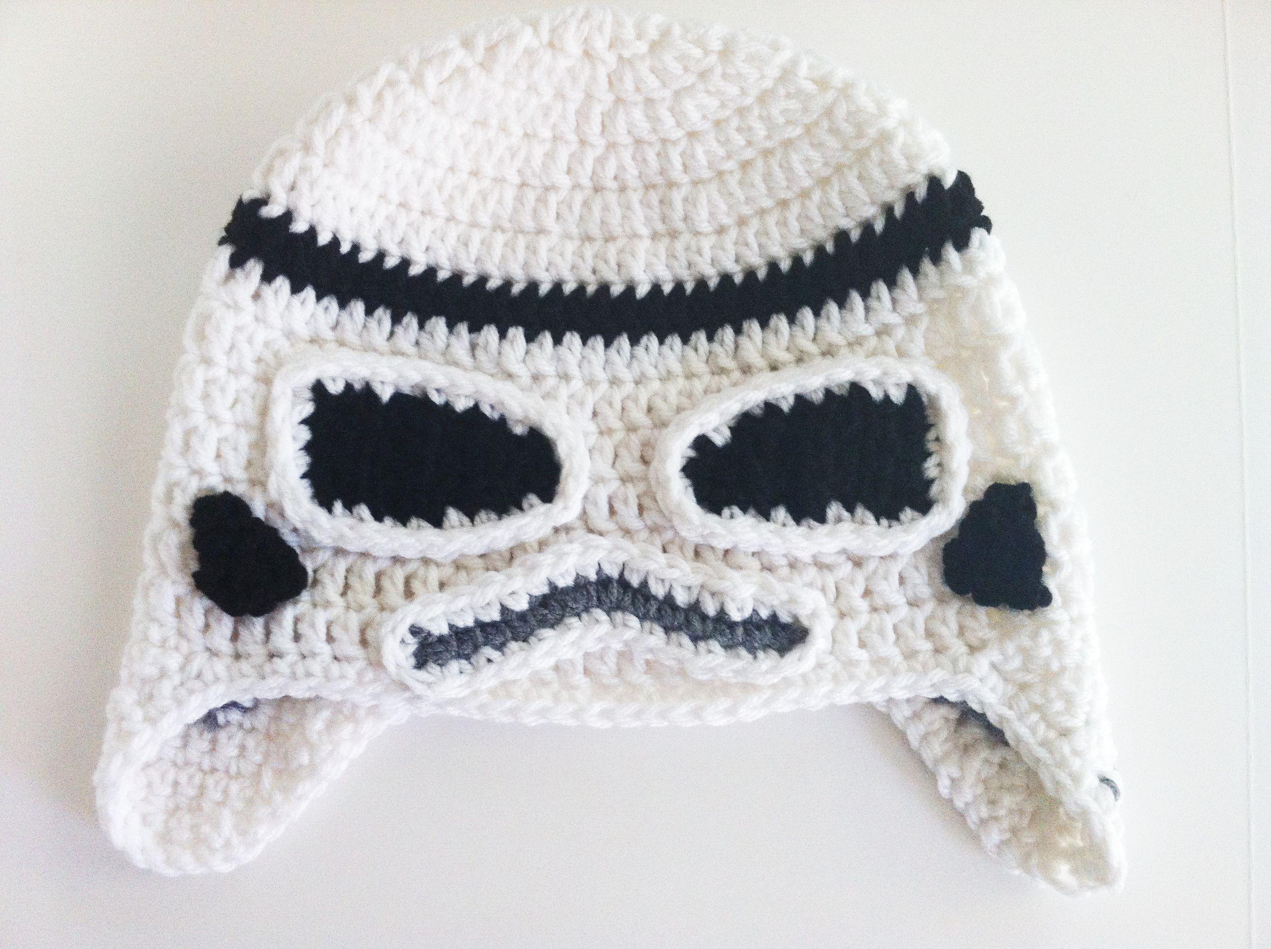 Star Wars Crochet Hats - Storm Trooper. NO PATTERN. Need for ...