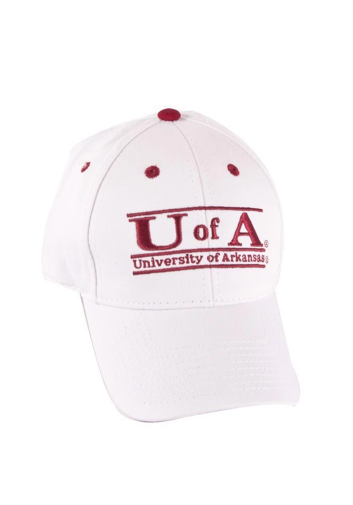 separation shoes 24e16 2a772 Arkansas Razorbacks Men s White Bar Snapback Hat http   www.rallyhouse.com