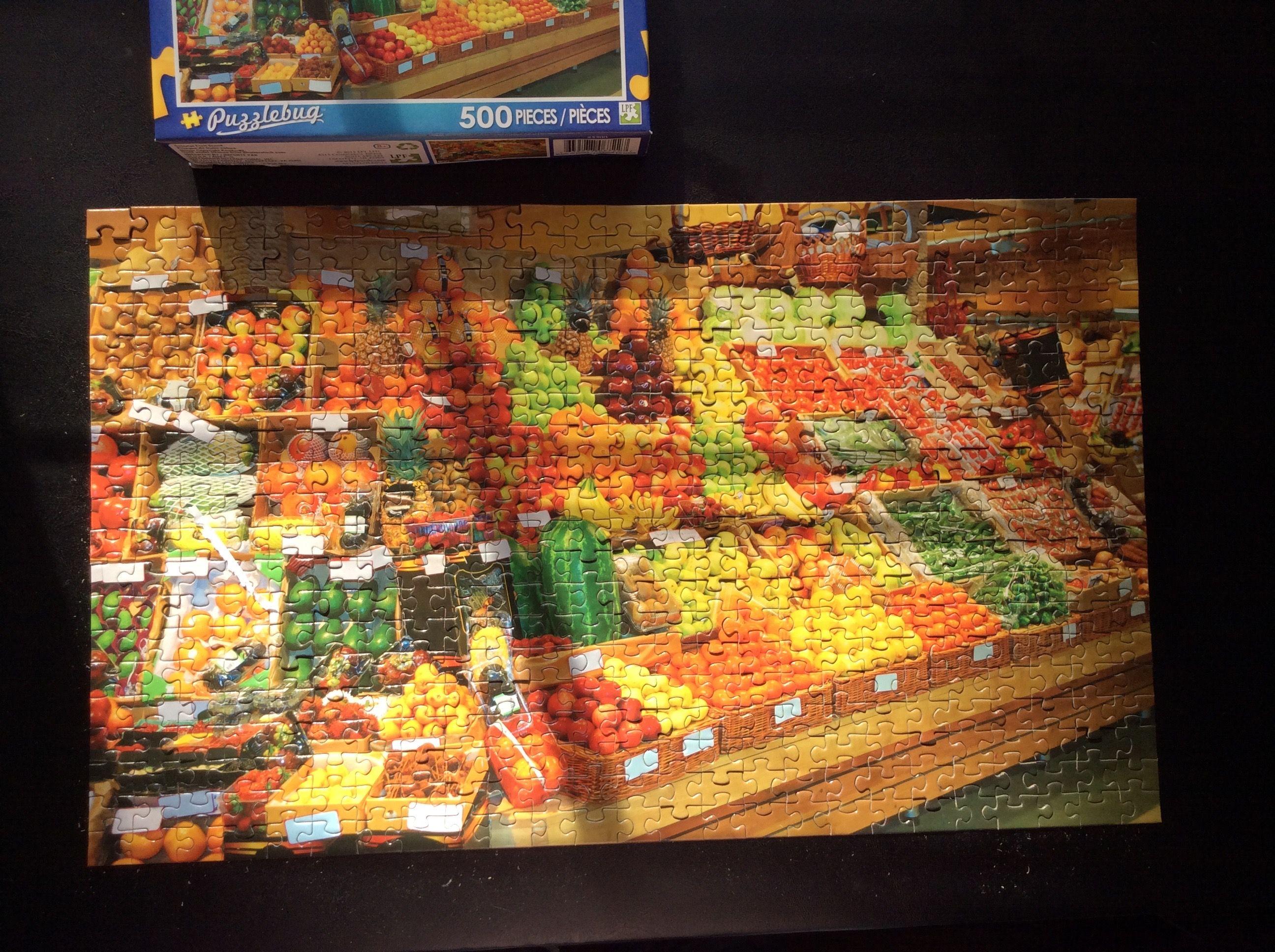 Puzzlebug 500 Piece Produce Supermarket Stand Puzzle