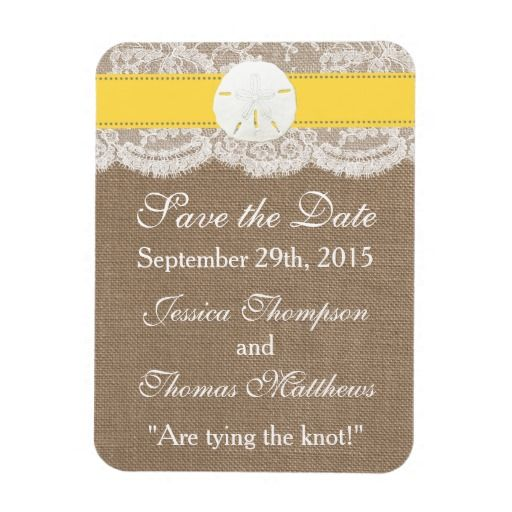 The Yellow Sand Dollar Beach Wedding Collection Rectangular Photo Magnet