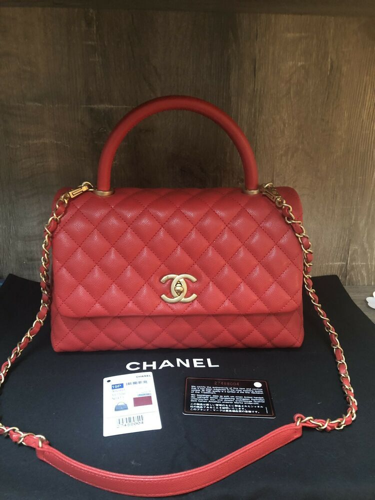 3077279bfd8938 19P Chanel Coco Handle Small Red Caviar Bag | Fashion in 2019 | Coco ...