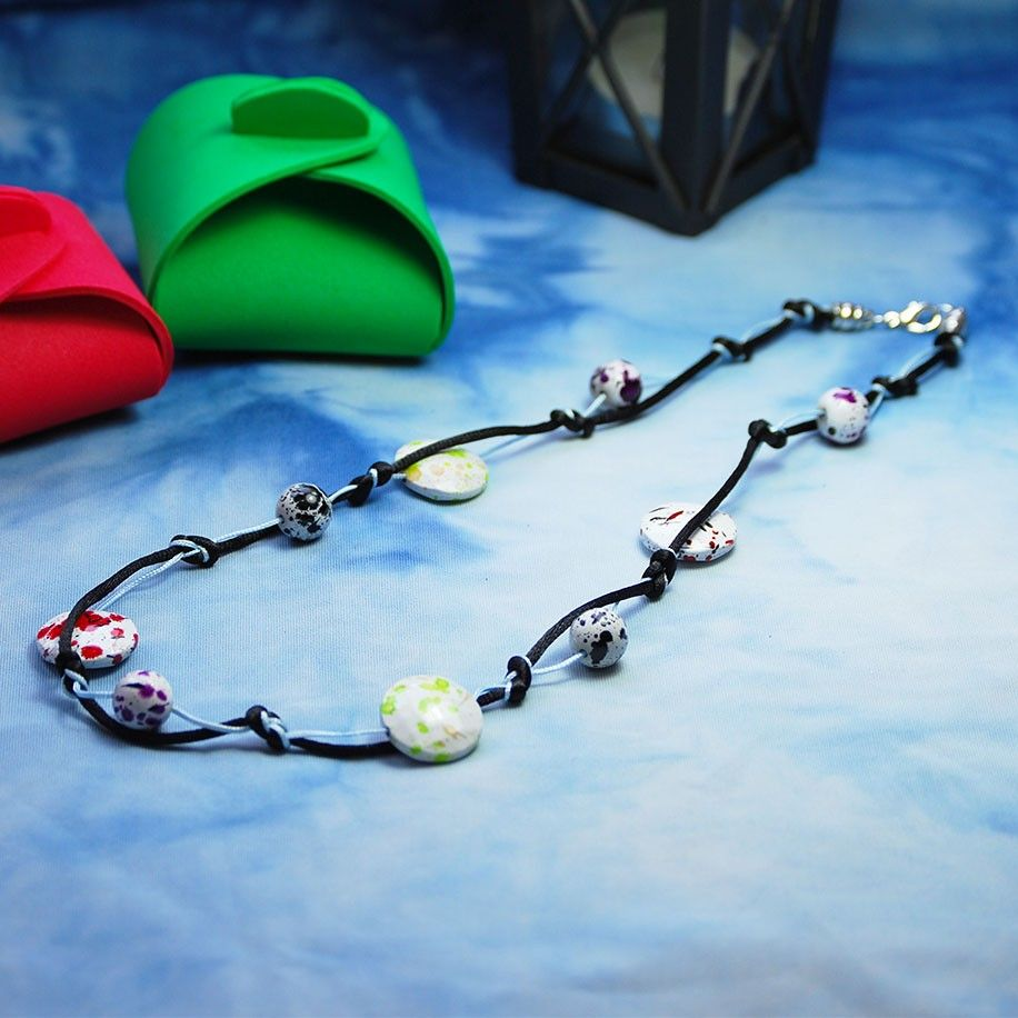 Collar Motas de Color (7,95€) - Trozitos