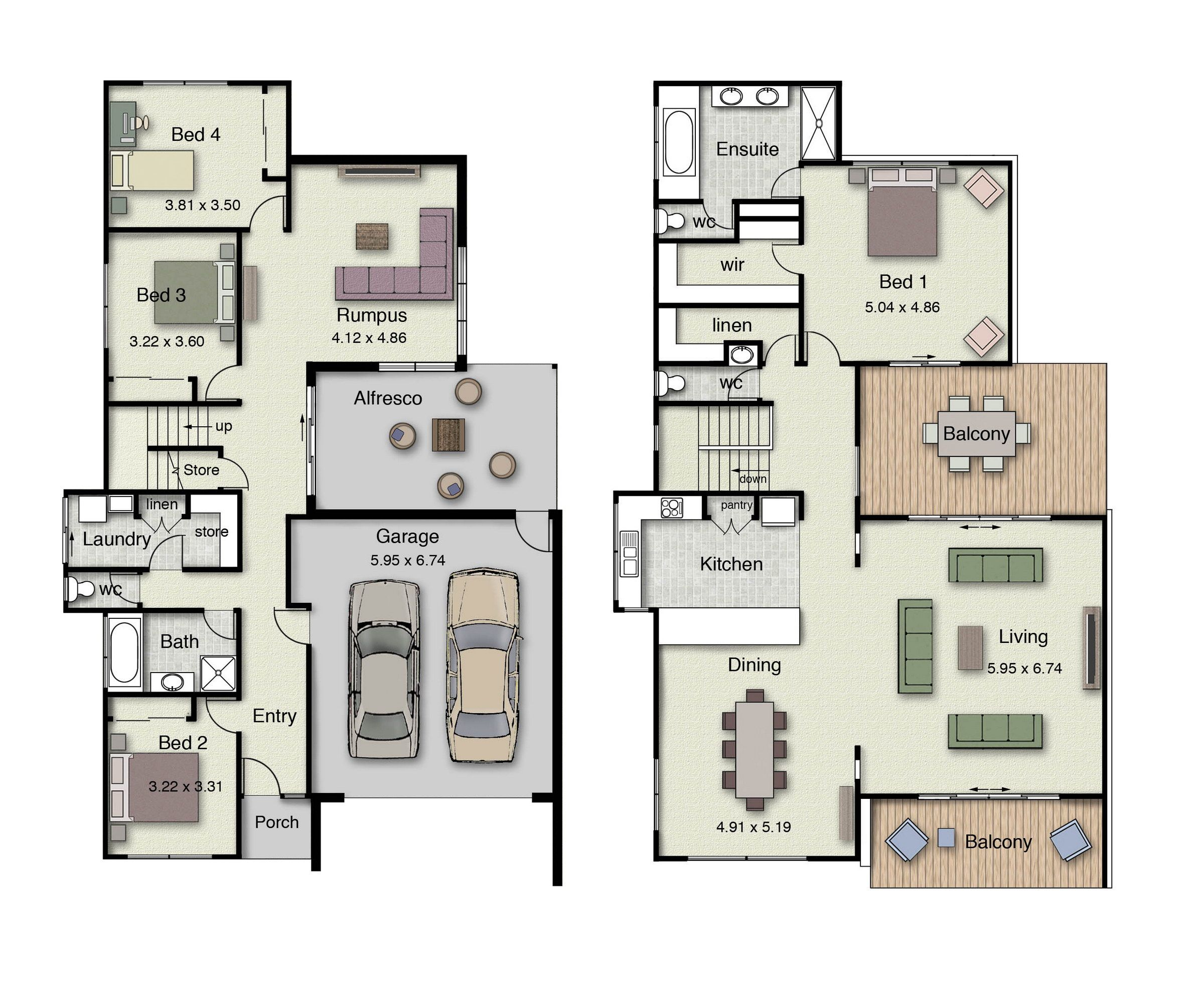 The beachview 382 offers inverted living and two spacious Reverse living home plans