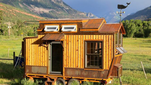 tiny house on wheels for sale. A Cedar Tiny House On Wheels With Unique Design. Currently For Sale $39,500