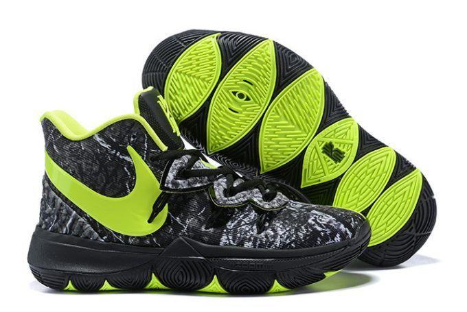 787556b139b8 Buy Taco x Nike Kyrie 5 Celtics PE Black Green Shoes-1
