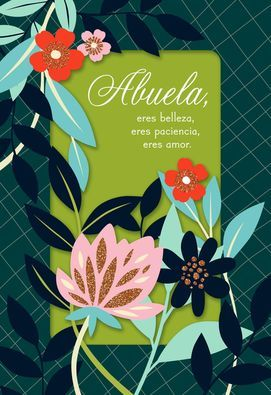 Abuela, You Are Beautiful Spanish-Language Mother's Day Card in 2020 | Happy  mothers day wishes, Mother day wishes, Mothers day cards