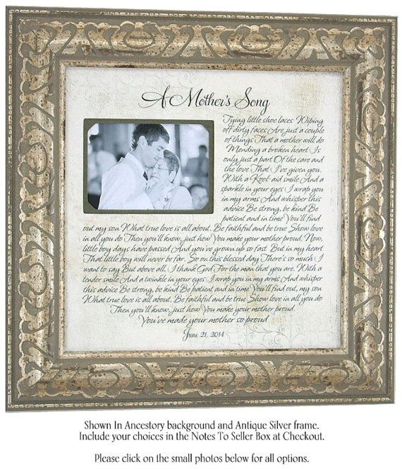 Mother of the Groom Gift, Mother of the Groom, Mother of Groom Frame ...