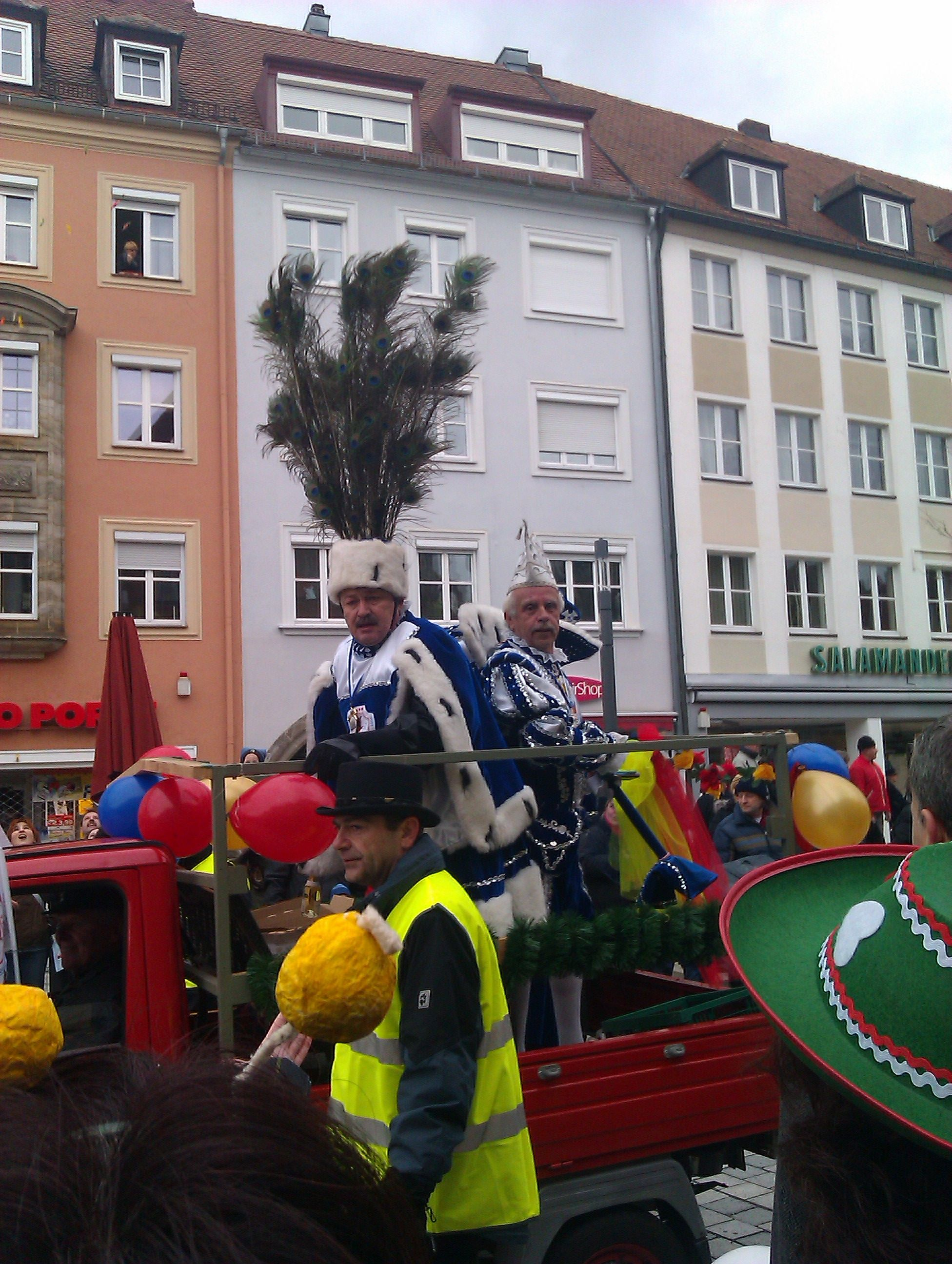 Fasching parade in Bayreuth,Germany. Feb 2012