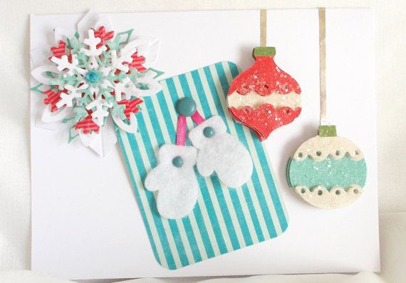 Handmade Christmas Cards Set of Three by GreetingCardsToGifts, $15.95