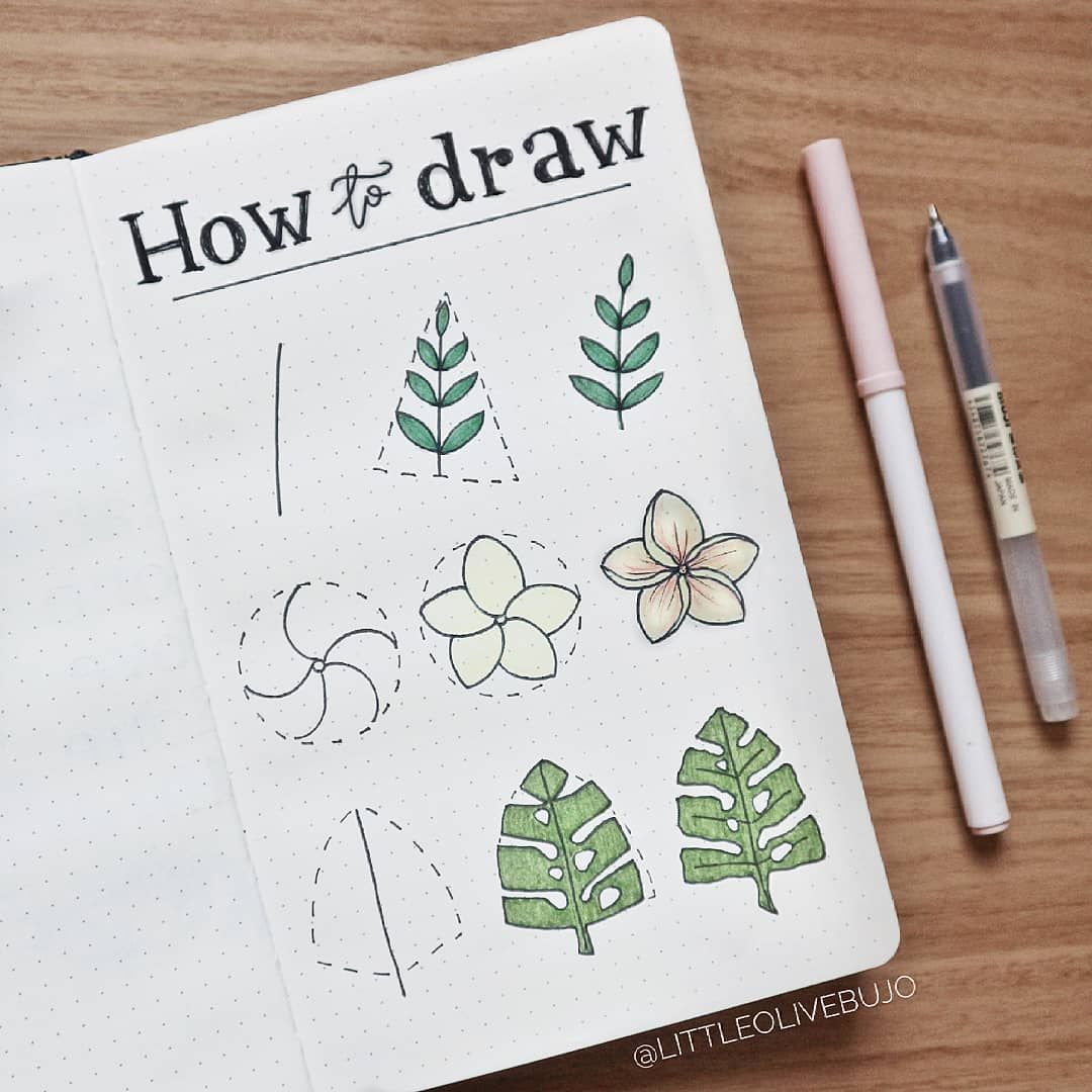 "60+ amazing doodle ""How to's"" for your bullet journal 