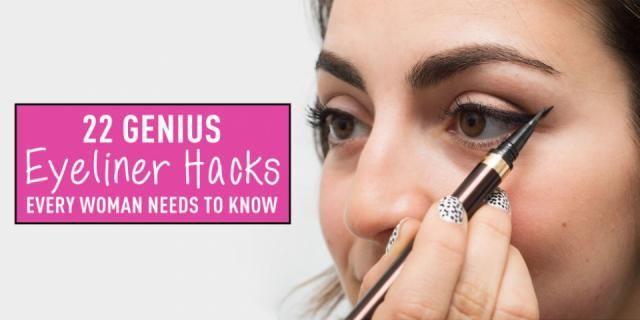 22 Genius Eyeliner Hacks Every Woman Needs To Know #Beauty #Trusper #Tip