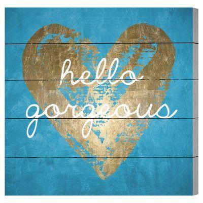 House of Hampton Gorgeous Salute Turquoise Graphic Art Plaque Size: