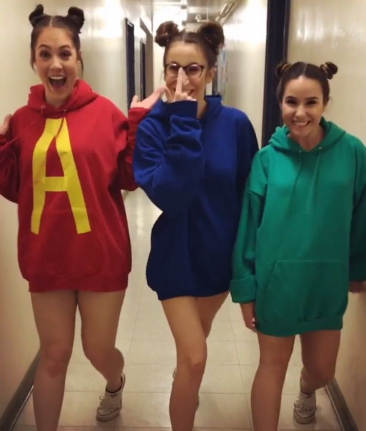 Alvin And The Chipmunks Halloween Costume Halloween Costumes Friends Halloween Outfits Sister Costumes