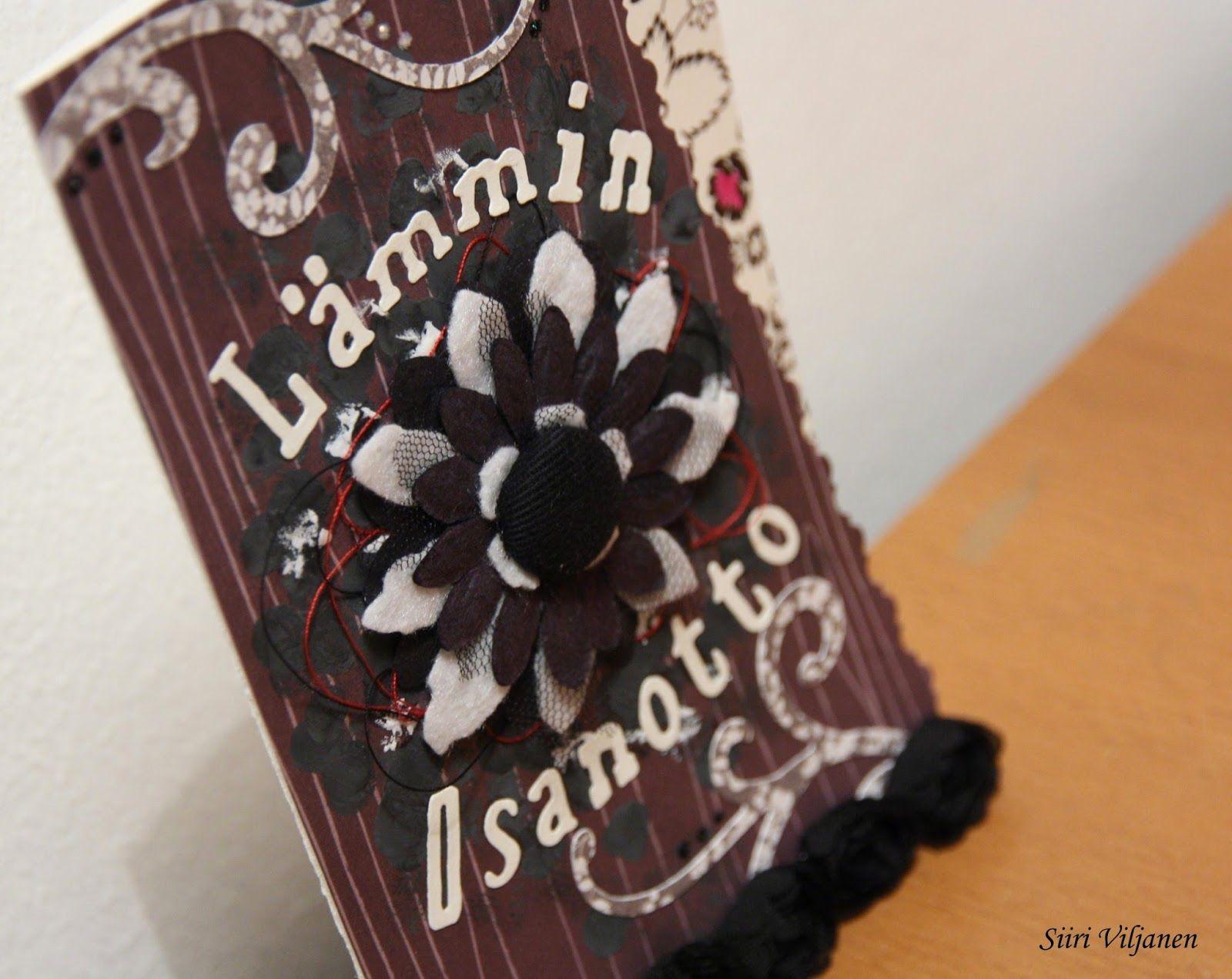 Handmade condolence card by Siiri Viljanen - Käsitöitä flamencohame hulmuten