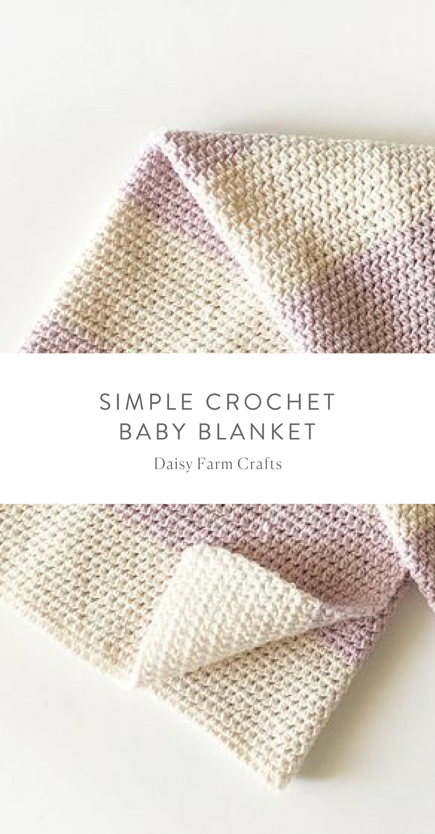 Free Pattern - Simple Crochet Baby Blanket #crochet | CROCHET ...