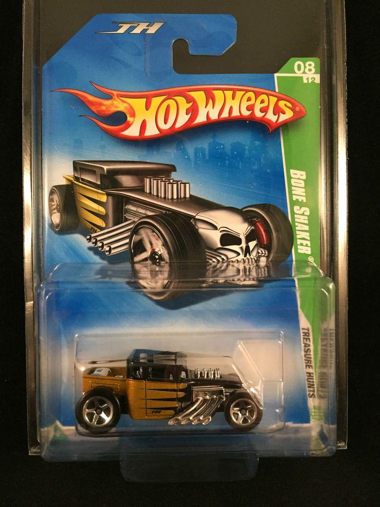 2009 hot wheels treasure hunt bone shaker gold chase car w. Black Bedroom Furniture Sets. Home Design Ideas